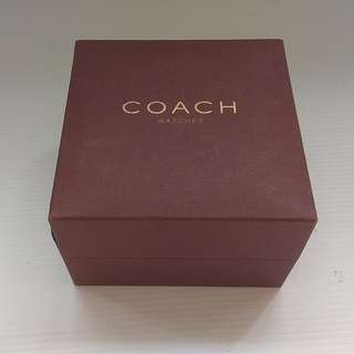 Rare Vintage COACH Watch Box, USA, Luxury Brown Casing, Luxury Designer Wear, For Collector, For Display