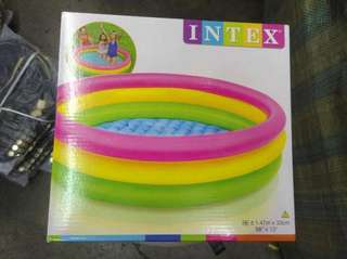 "Intex sunset glow 3 ring pool 58"" x 13"""