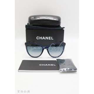 CHANEL 藍色鏡片 太陽眼鏡