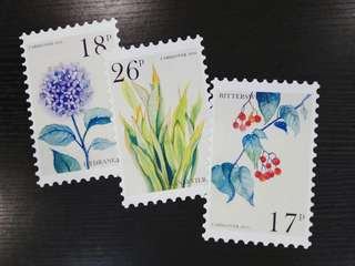 Flower Painting Stamp Postcards