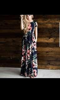 BN Long Floral Dress