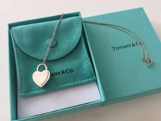 Tiffany & Co Necklace Heart Locket Charm