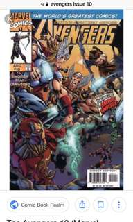 Avengers issue #10- free with any purchase of my comic sets