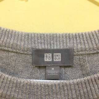UNIQLO Women cotton cashmere cable crew neck sweater