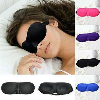 3D Eye Sleeping Rest Mask Soft Sponge Cover Shade Blinder Travel Sleep Blindfold