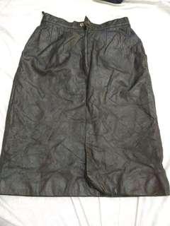 Sale!!! Leather black skirt