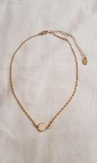 Zara Gold Plated Cream Circle Necklace