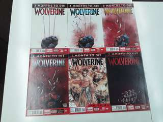 Wolverine Three Months to Die (2014 Marvel NOW) Comics Set