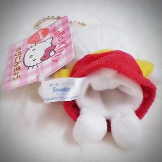 Hello Kitty 中古 1999年絕版 手指偶 布偶 公仔 匙扣 00048 (Bear)