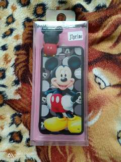 J7 prime Micky mouse case w/tempered glass protector