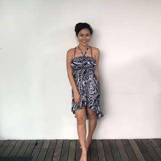 Ruffle Floral High-Low Halter Beach Dress #20under