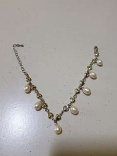 Authentic Pearl Bracelet with Hearts