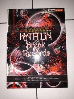 "DVD Konser KAT-TUN ""Live the Records"" Ori"