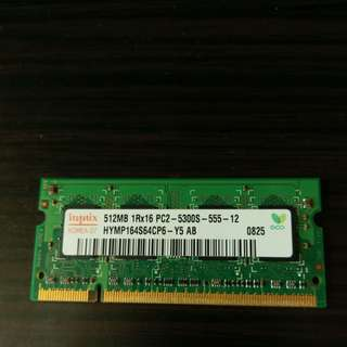 RAM memory 512 mb ddr2 667 mhz (for macbook white 2008)
