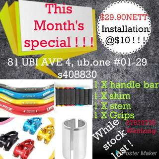 Handle bar package / escooter /speedway/ultron /dualtron/oem /darknight