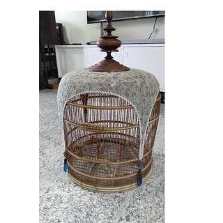 Merbok jambul puteh bird cage antique not aquarium crystal fish tank