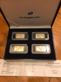 World War 2 Commemorative Silver Ingot Set