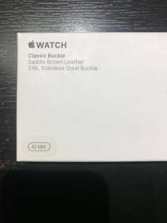 Apple Watch Classic Buckle (Saddle Brown Leather)