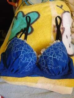 包郵藍色push up bra