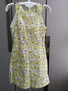 Yellow Floral dress (New)