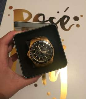 Chisel Mens Gold Watch