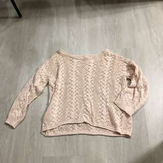 Rose Pink Oversize Knit Sweater Pullover