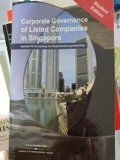 Book - corporate governance of listed companies in Singapore