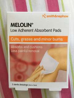 Melolin - low adherent absorbent pads