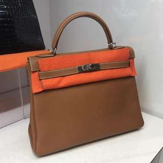 Hermes kelly 32 togo gold