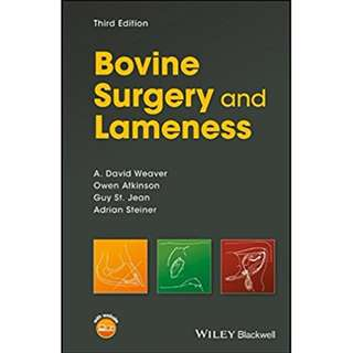 Bovine Surgery and Lameness 3rd edition