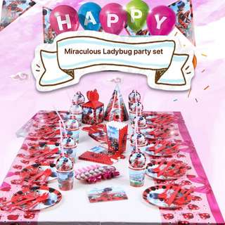 PO Miraculous Ladybug Party Set