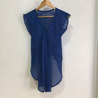 Chiffon blouse cover up