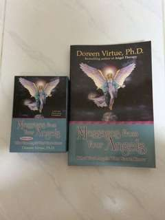 Message From Your Angels (Book & Cards) By Doreen Virtue, Ph.D (Angel Therapy) What Your Angel Want You To Know