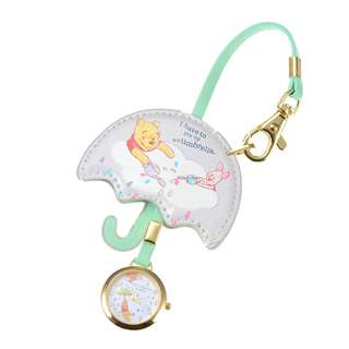 Japan Disneystore Disney Store Pooh & Piglet Pooh's Day Bag Charm with Watch