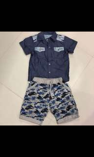 [Brand New] (3Y-4Y) Baby Boy Top & Pants