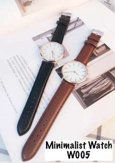 Couple Wrist Watch with PU Strap