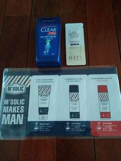 Men's Shampoo / Skincare Sample Set (3 pieces)