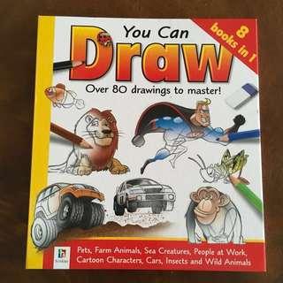 [BN] You Can Draw (8 Books in 1) Over 80 Drawings to Master! <Hard Cover - 192 pages>