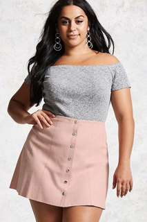 FOERVER 21 PLUS SIZE SUEDE SKIRT