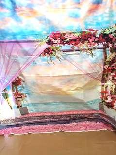 photobooth wedding backdrop.