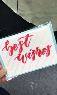 Hand lettering Card - Best Wishes