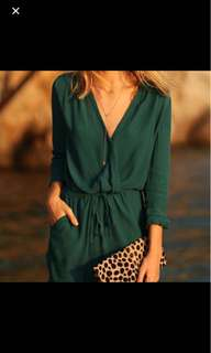 bn sheer green romper