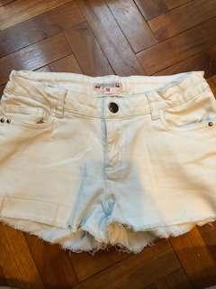 Bon Point white denim shorts size10