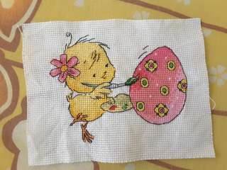 Finished cross stitch ~ easter egg