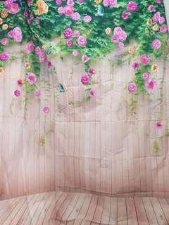 Garden Theme Floral backdrop photobooth