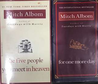Mitch Albom's 5people you meet in heaven & for one more day