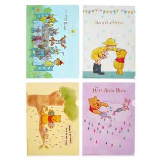 Japan Disneystore Disney Store Pooh & Friends Pooh's Day Clear File