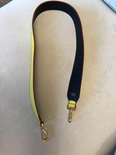 Fendi blue/yellow hangbag strap