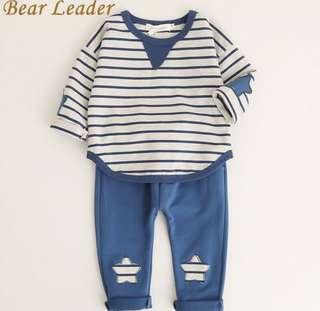 2pcs Baby Long Sleeve Applique Top+Long Pants