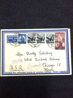 Italy 1948 Postal Cover to USA